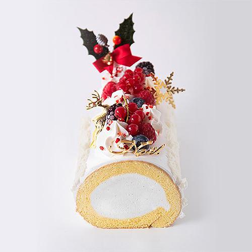 【パティスリーモンシェール】ホワイト クリスマスロール