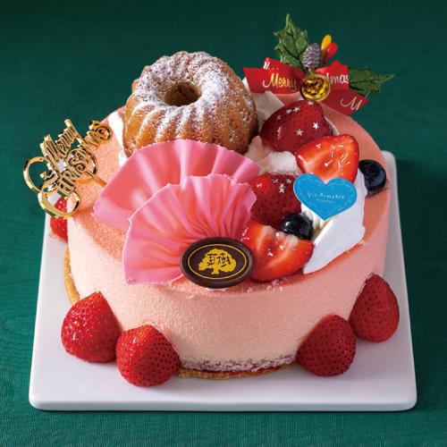 【アントルメ菓樹】・【ヴィー・エマーブル】阿蘇苺のクリスマスケーキ